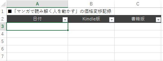Excel作業前図
